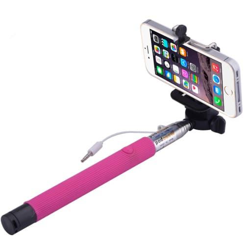 Selfie Stick Monopod με κουμπί Ροζ Z07-5S